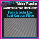 2M X 1525mm VEHICLE CAR VAN WRAP FEELS & LOOKS LIKE REAL CARBON FIBRE GREY